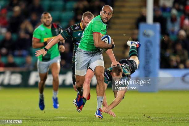 Aaron Morris of Harlequins during the Gallagher Premiership Rugby match between Northampton Saints and Harlequins at Franklin's Gardens on November...