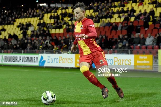 Aaron Nemane of Go Ahead Eagles during the Dutch Jupiler League match between Go Ahead Eagles v FC Emmen at the De Adelaarshorst on February 12 2018...