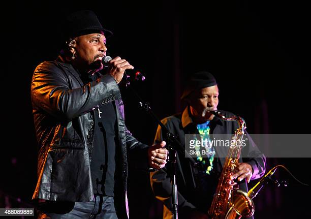 Aaron Neville and Charlie Neville perform during The Musical Mojo of Dr John A Celebration of Mac His Music at the Saenger Theatre on May 3 2014 in...
