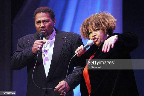 Aaron Neville and Mavis Staples during Blind Boys of Alabama Perform With Guests for PBS Special in New York City at Beacon Theater in New York City...