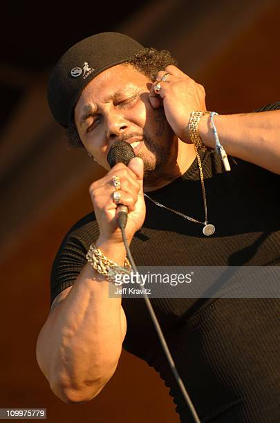 Aaron Neville of the Neville Brothers during 2005 New Orleans Jazz and Heritage Festival - Day 4 at Racecourse Fairgrounds in New Orleans, Louisiana,...