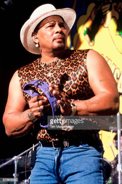 Aaron Neville of The Neville Brothers performs as part of New Orleans by the Bay 1997 at Shoreline Amphitheatre on June 22, 1997 in Mountain View,...