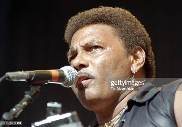Aaron Neville of the Neville Brothers performs during New Orleans By the Bay 1992 at Shoreline Amphitheatre on June 6, 1992 in Mountain View,...