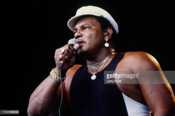 Aaron Neville performing with 'The Neville Brothers' at the Monterey Bay Blues Festival in Monterey California on January 1 1987