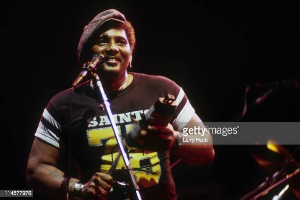Aaron Neville performing with the 'Neville Brothers' at the Oakland Colisieum in Oakland California on December 31 1987