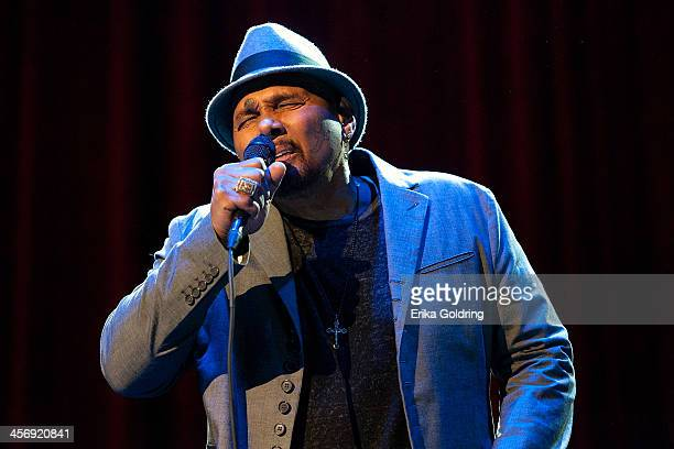 Aaron Neville performs at the Civic Theatre on December 15 2013 in New Orleans Louisiana