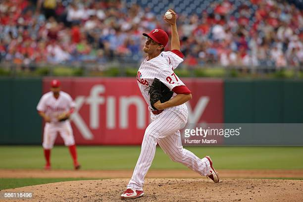 Aaron Nola of the Philadelphia Phillies during a game against the Kansas City Royals at Citizens Bank Park on July 2 2016 in Philadelphia...