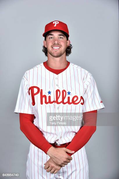 Aaron Nola of the Philadelphia Phillies poses during Photo Day on Monday February 20 2017 at Spectrum Field in Clearwater Florida