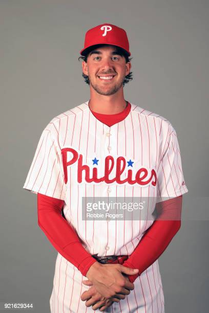 Aaron Nola of the Philadelphia Phillies poses during Photo Day on Tuesday February 20 2018 at Spectrum Field in Clearwater Florida