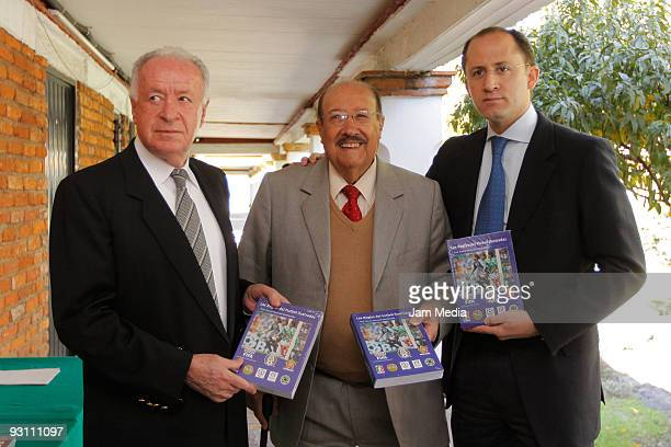 Aaron Padilla President of the Referees' Comission Rafael Mancilla Director of the Referees' Commission and Arturo Yamasaki pose for a photograph...