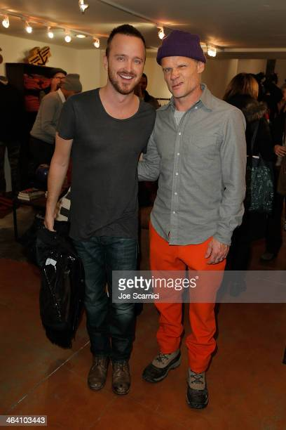 Aaron Paul and Flea attend The Variety Studio Sundance Edition Presented By Dawn Levy on Day 3 of the 2014 Park City on January 20 2014 in Park City...