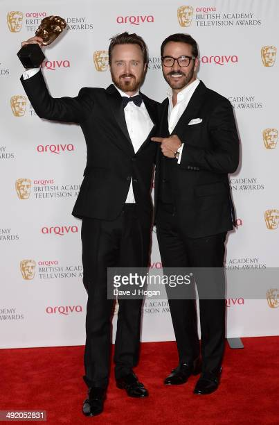 Aaron Paul and Jeremy Piven attend the Arqiva British Academy Television Awards at Theatre Royal on May 18 2014 in London England