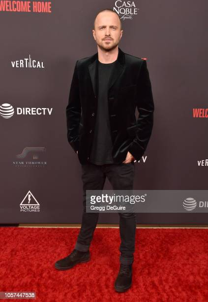 Aaron Paul arrives at the 'Welcome Home' Premiere at The London West Hollywood on November 4 2018 in West Hollywood California