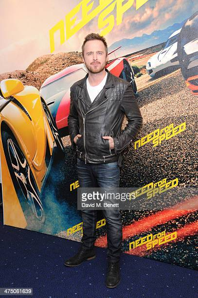 Aaron Paul attends a fan screening of 'Need For Speed' at Odeon West End on February 26 2014 in London England