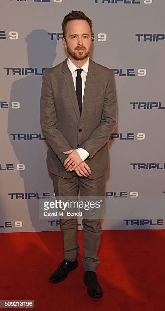 Aaron Paul attends a special screening of Triple 9 at The Ham Yard Hotel on February 9 2016 in London England