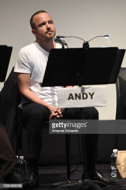 Aaron Paul attends Jason Reitman's Live Read Of The Breakfast Club during 2018 Toronto International Film Festival at Ryerson Theatre on September 9...
