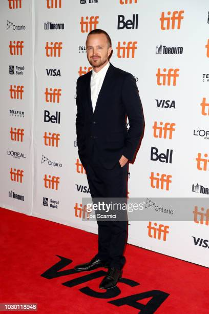 Aaron Paul attends the 'American Woman' premiere during 2018 Toronto International Film Festival at Princess of Wales Theatre on September 9 2018 in...