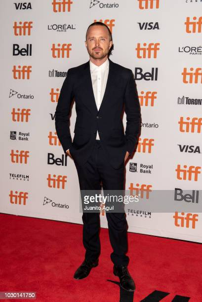 Aaron Paul attends the 'American Woman' premiere during the 2018 Toronto International Film Festival at Princess of Wales Theatre on September 9 2018...