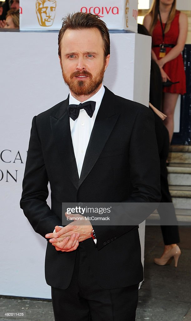 Aaron Paul attends the Arqiva British Academy Television Awards at Theatre Royal on May 18, 2014 in London, England.