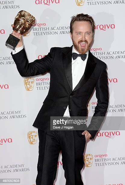 Aaron Paul attends the Arqiva British Academy Television Awards at Theatre Royal on May 18 2014 in London England