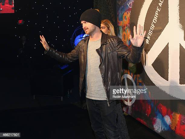Aaron Paul attends the ESPN The Party at Basketball City Pier 36 South Street on January 31st 2014 in New York City