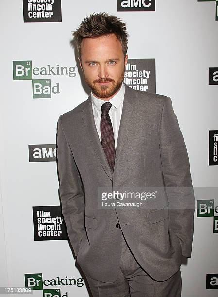 Aaron Paul attends The Film Society Of Lincoln Center And AMC Celebration Of Breaking Bad Final Episodes at The Film Society of Lincoln Center Walter...