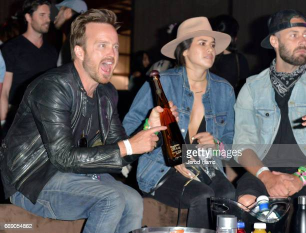 Aaron Paul attends The Levi's Brand Presents NEON CARNIVAL with Tequila Don Julio on April 15 2017 in Thermal California