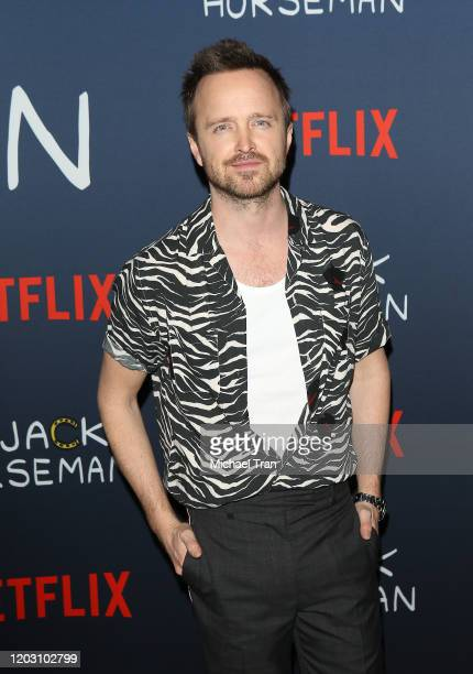 Aaron Paul attends the Los Angeles premiere of Netflix's Bojack Horseman Season 6 held at the Egyptian Theatre on January 30 2020 in Hollywood...
