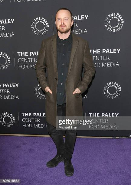 Aaron Paul attends the Paley Center for Media presents Hulu's 'The Path' Season 3 premiere held at The Paley Center for Media on December 21 2017 in...