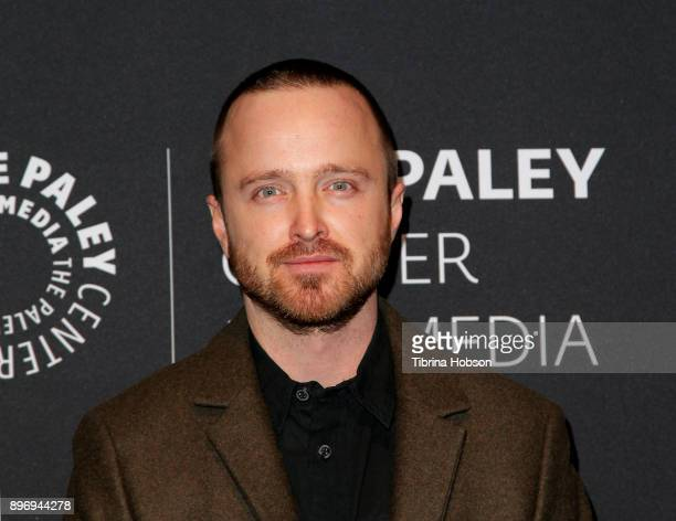 Aaron Paul attends the Paley Center For Media's presentation of Hulu's 'The Path' Season 3 premiere at The Paley Center for Media on December 21 2017...