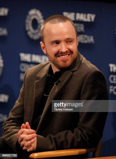 Aaron Paul attends the Paley Center for Media's presentation of Hulu's 'The Path' Season 3 premiere QA at The Paley Center for Media on December 21...