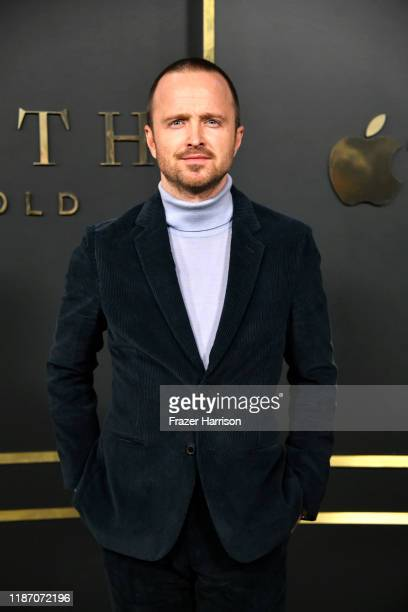 Aaron Paul attends the Premiere Of Apple TV's Truth Be Told at AMPAS Samuel Goldwyn Theater on November 11 2019 in Beverly Hills California