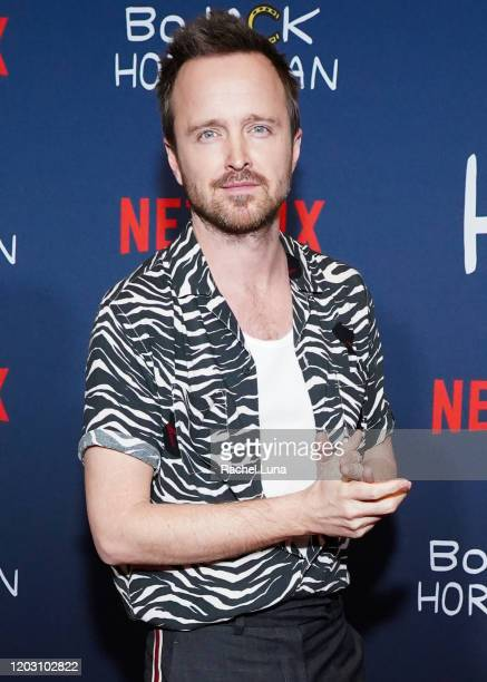 Aaron Paul attends the premiere of Netflix's Bojack Horseman Season 6 at the Egyptian Theatre on January 30 2020 in Hollywood California