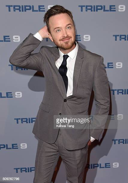 Aaron Paul attends the Special Screening of 'Triple 9' at Ham Yard Hotel on February 9 2016 in London England