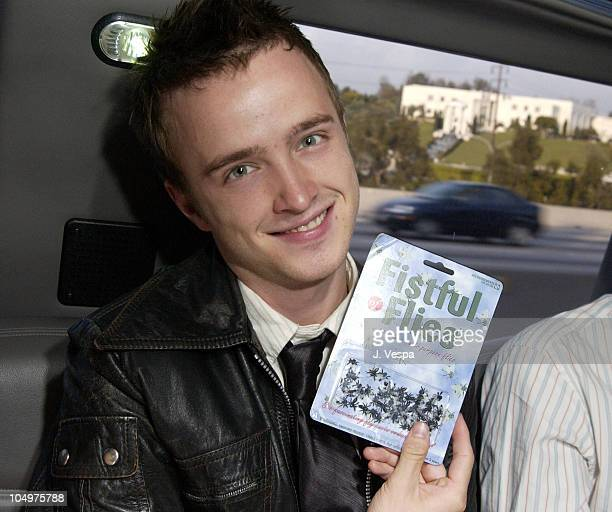 Aaron Paul during Movieline Hugo Boss Party at Hugo Boss Store South Coast Plaza in Costa Mesa California United States