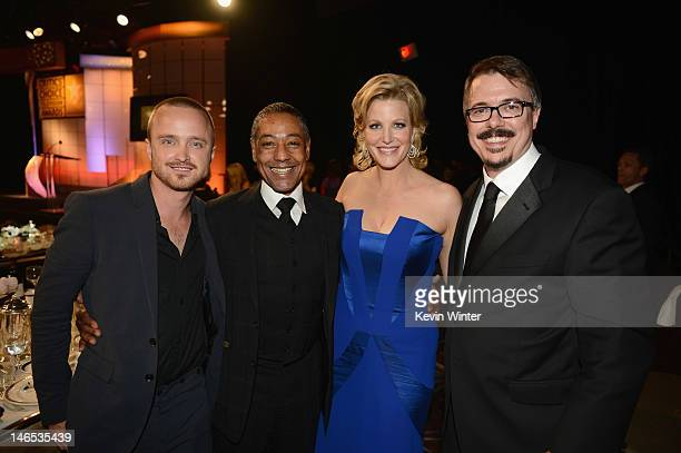 Aaron Paul Giancarlo Esposito Anna Gunn and writer/creator Vince Gilligan attend The Broadcast Television Journalists Association Second Annual...