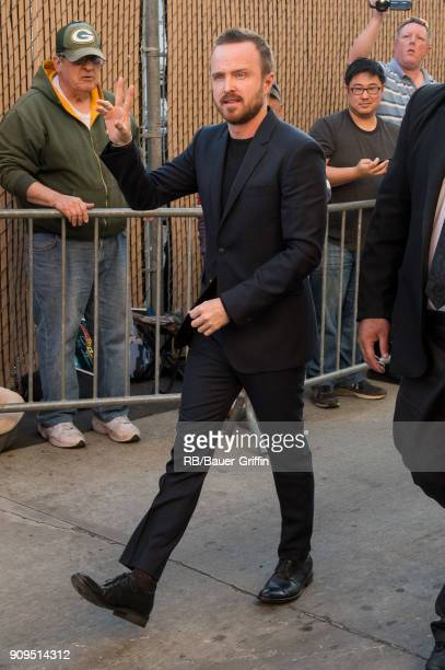 Aaron Paul is seen at 'Jimmy Kimmel Live' on January 23 2018 in Los Angeles California