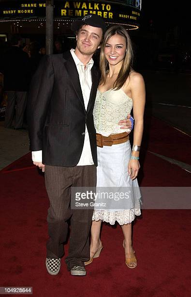 Aaron Paul Samaire Armstrong during Collateral Damage Los Angeles Premiere at Mann's Village in Westwood California United States
