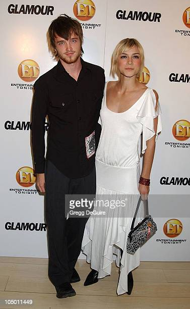 Aaron Paul Samaire Armstrong during ET/GLAMOUR Emmy Party Celebrating a Night of GLAMOUR on Sunset at Mondrian Hotel in West Hollywood California...