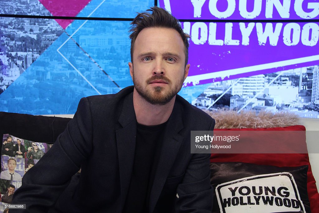 Aaron Paul Visits Young Hollywood Studio
