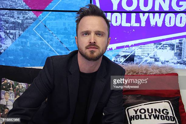 Aaron Paul visits the Young Hollywood Studio on March 21 2016 in Los Angeles California