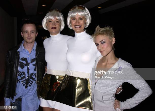 Aaron Paul Xbox models Samaire Armstrong during Launch Party For Xbox Live Party at Peek at The Sunset Room in Hollywood California United States