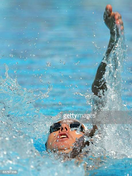Aaron Peirsol of the United States swims en route to winning his preliminary heat of the 200 meter Backstroke during the XI FINA World Championships...