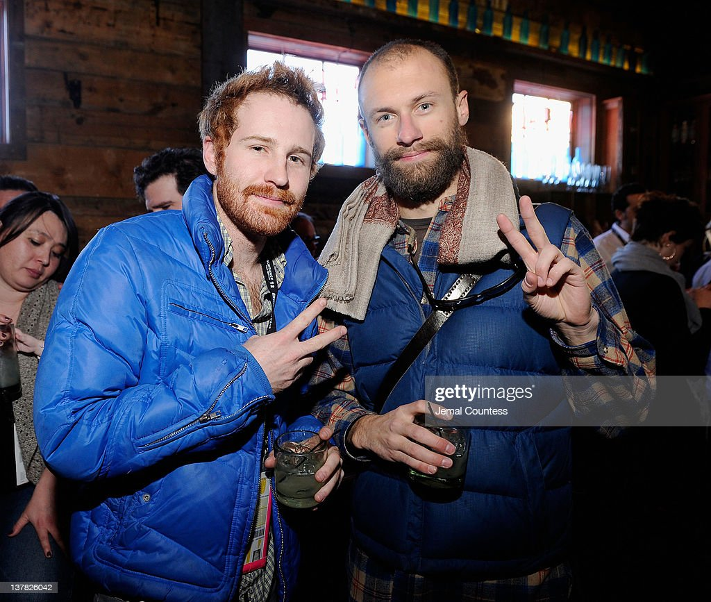Aaron Peterson (L) attends the Alfred P. Sloan Foundation Reception & Prize Announcement during the 2012 Sundance Film Festival on January 27, 2012 in Park City, Utah.