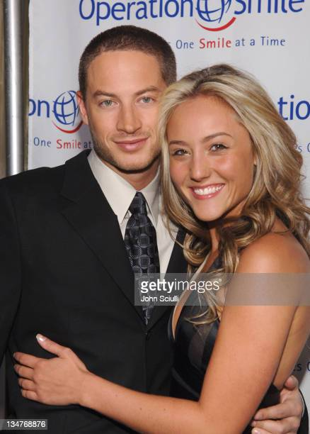 Aaron Phillips and Lauren C Mayhew during Operation Smiles 5th Annual Los Angeles Gala at Regent beverly Wilshire in Los Angeles California United...