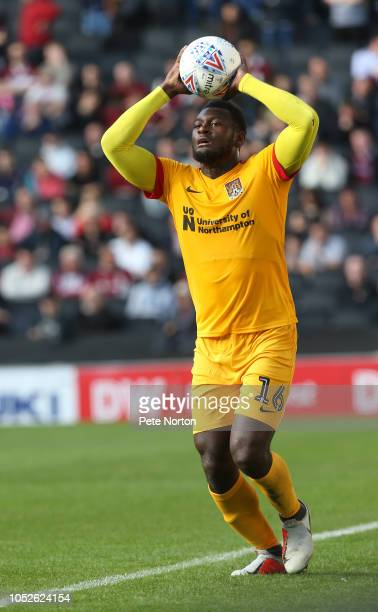 Aaron Pierre of Northampton Town during the Sky Bet League Two match between Milton Keynes Dons and Northampton Town at Stadium mk on October 20 2018...