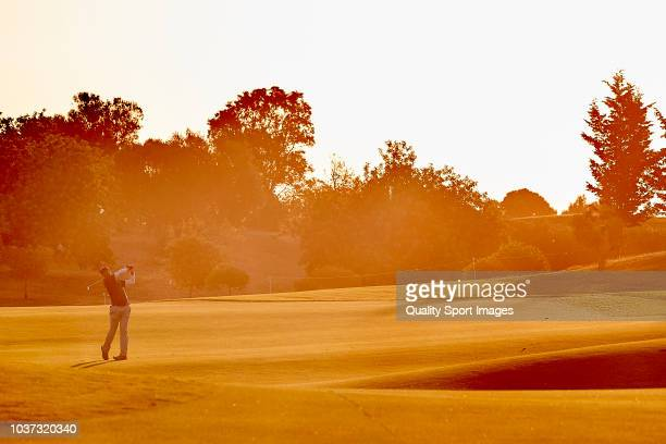 Aaron Rai of England during secong day of Portugal Masters at Dom Pedro Victoria Golf Course on September 21 2018 in Vilamoura Portugal