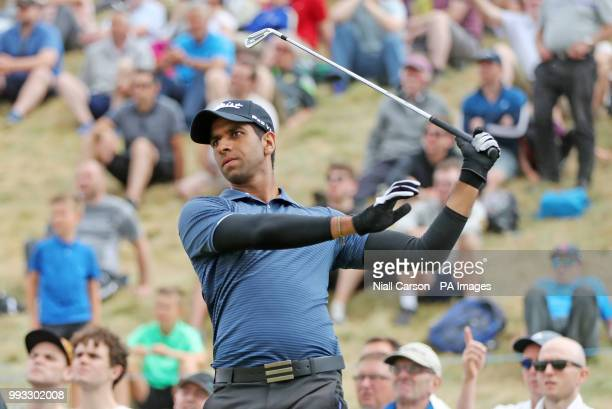 Aaron Rai on the 8th Tee during day three of the Dubai Duty Free Irish Open at Ballyliffin Golf Club