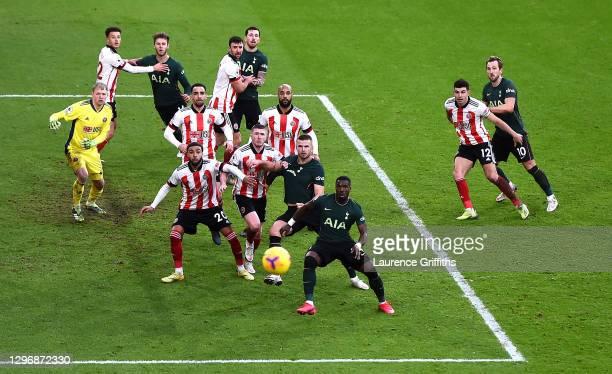 Aaron Ramsdale, Ethan Ampadu, Kean Bryan, Jayden Bogle, Enda Stevens, John Lundstram, David McGoldrick and John Egan of Sheffield United prepare to...