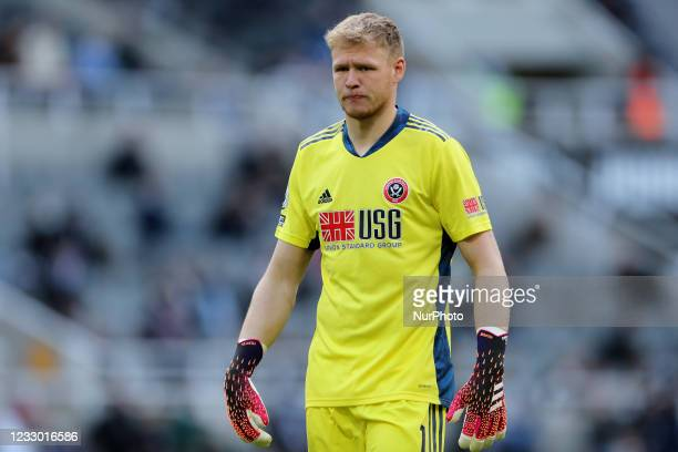 Aaron Ramsdale of Sheffield United during the Premier League match between Newcastle United and Sheffield United at St. James's Park, Newcastle on...